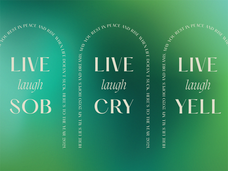 Live Laugh Cry livelaughlove graphic gradient type graphicdesign graphic design dribbble typography design