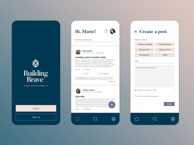 Building Brave App user interface app design app ui dribbble branding design
