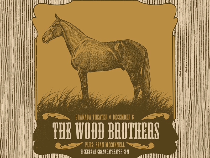 The Wood Brothers live music texas dallas granada theater distressed vintage horse music concert the wood brothers