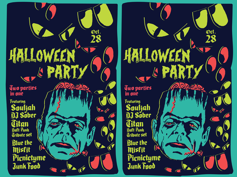Monster Bash trick or treat costume party halloween party party monsters creepy undead spooky frankenstein monster halloween