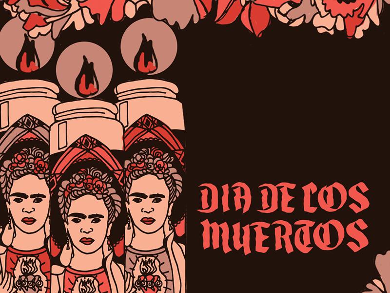 Frida Kahlo Prayer Candles sugar skulls female artist artist celebrity prayer candle halloween party party day of the dead dia de los muertos mexico frida kahlo