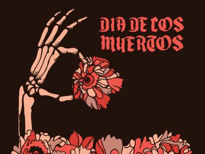Skeleton Hand bones grave celebration mexico dia de los muertos day of the dead hand holding flower flowers hand spooky halloween skeleton
