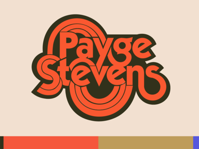 Logo color variation 70s inspired vintage inspired retro colors burnt orange orange retro groovy logotype color variation 70s wrangler