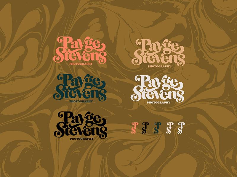 Logo Color Explorations psychedelic radical retro inspired vintage retro seventies brand identity color studies lockups photographer brand photographer logotype