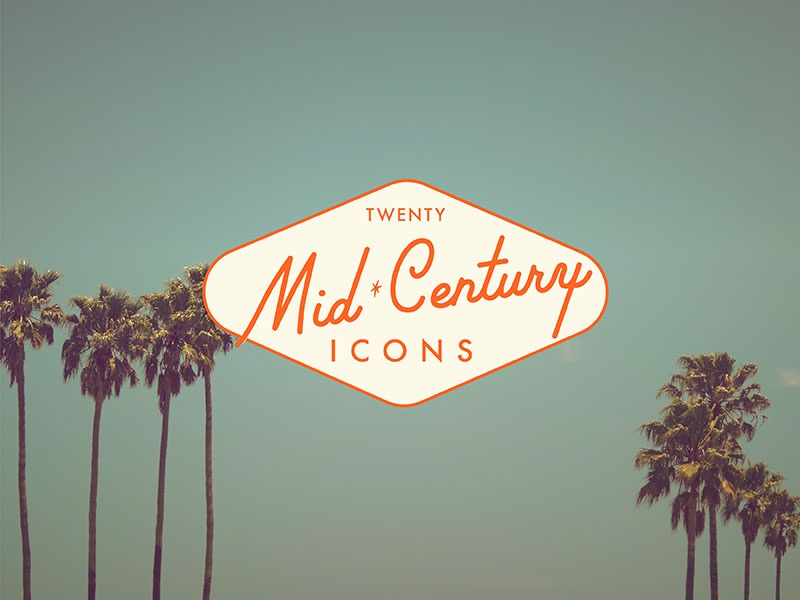 Coming Soon to a Creative Market near you! icons california palm desert midcentury architecture mid century illustration icon set palm springs midcentury modern