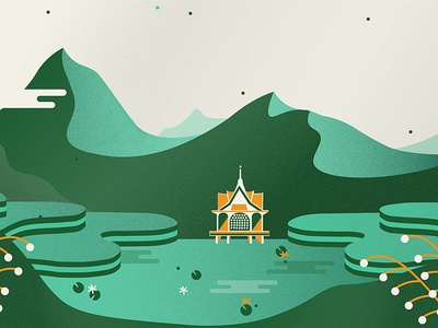 Little unused Thailand-inspired illustration