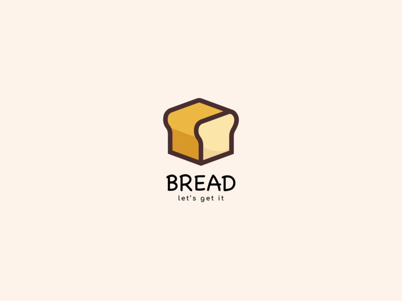 Bread toast breadcrumb logo goal fun vector illustration bread