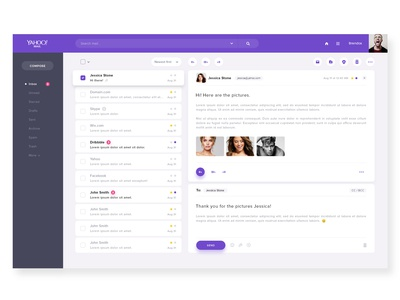 Yahoo Mail - redesign