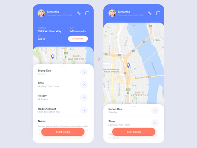 Scooper app design
