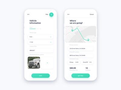 Logistics app design
