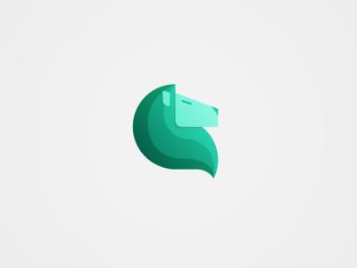 Lionkorra illustration graphic design brand lion pictogram personal mark logo identity icon green