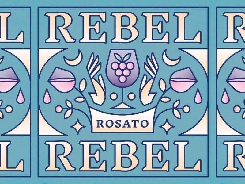 Rebel Rebel Rosato Wine Label