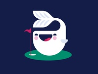 Cute Challenge: Whale playing golf.