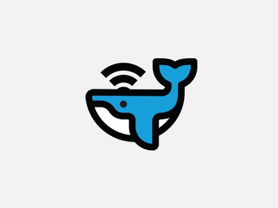 """Humpback Hotspot"" playful access point modem router hotspot branding icon networking cute whale internet wifi"