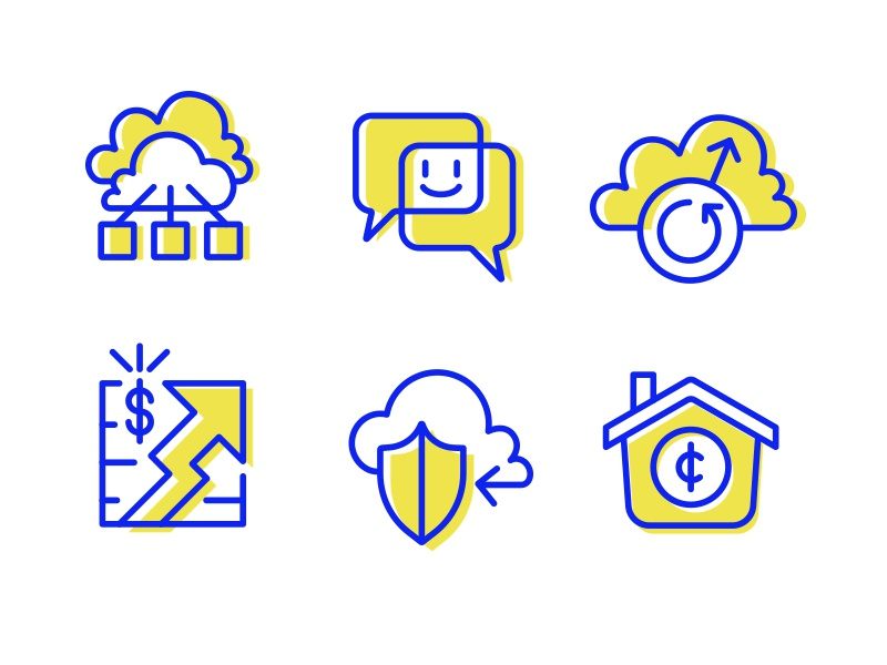 Marketing Icon Set_5.4.17 profit backup chat money house shield storage cloud networking marketing icon