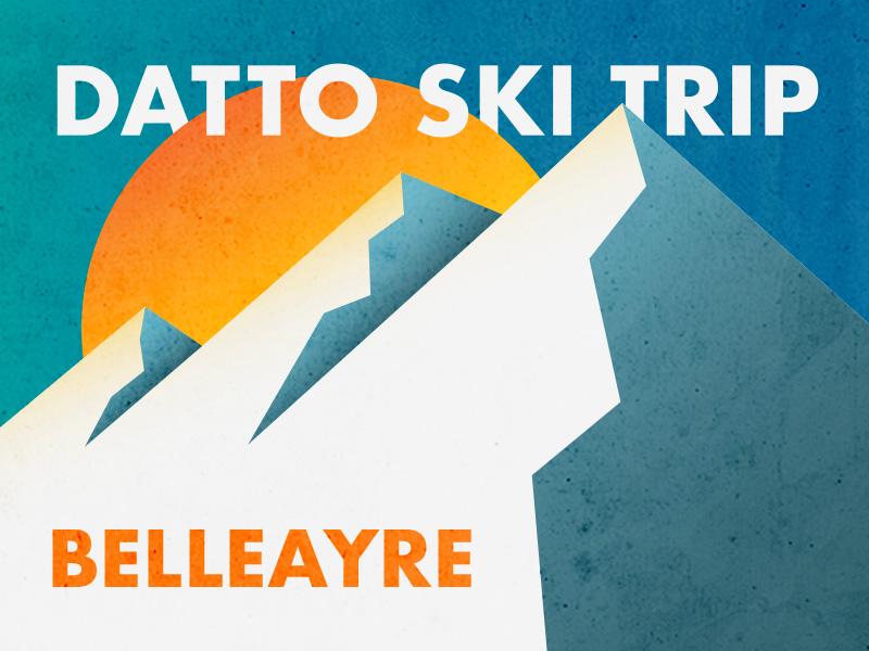 Datto Ski Trip: Bellayre illustration exploration outdoors snow sun datto skiing ski mountains poster belleayre