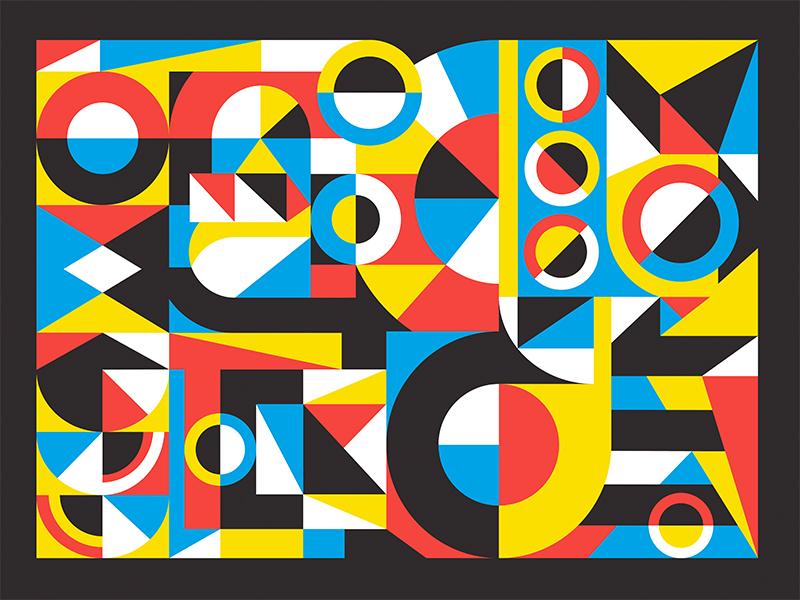 Geometric Study cbcoombs geo geometry squares circles primary geometric collage