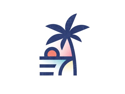 Beach Vibes bsds cbcoombs vacation surf vibes waves sun ocean palm tree sunset beach