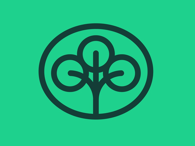 Earth Day: Tree logo vector design identity badge logo branding icon trunk leaf leaves bush trees green charlity outdoors wildlife cbcoombs nature earthday earth