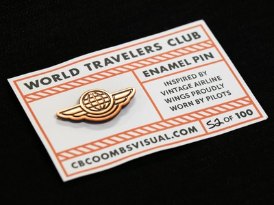 World Travelers Enamel Pins
