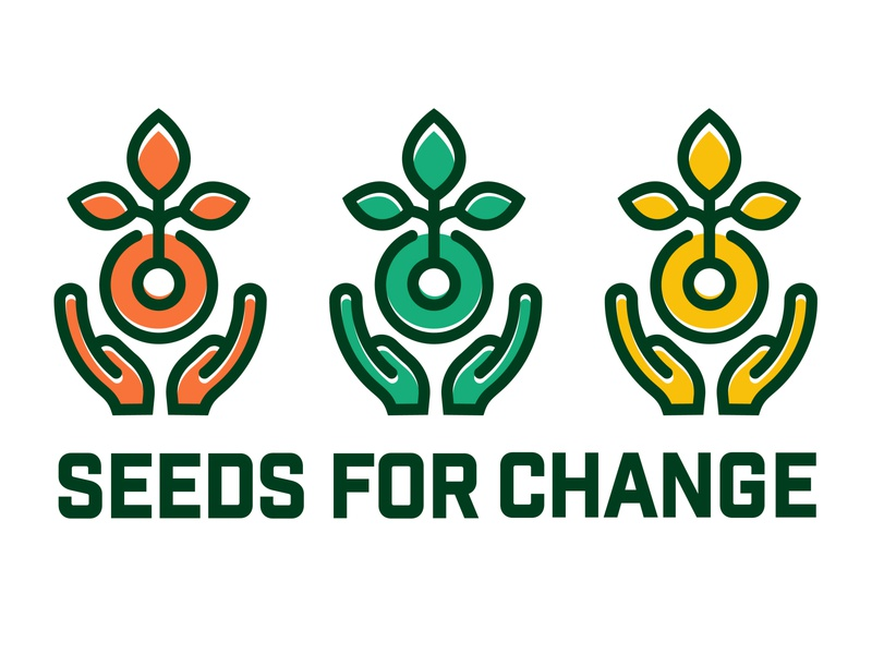 Rebrand Challenge: Seeds for Change vector design identity branding leafs cbcoombs holding hands growth logo challenge seed plants logochallenge nonprofit seedsforchange rebrand