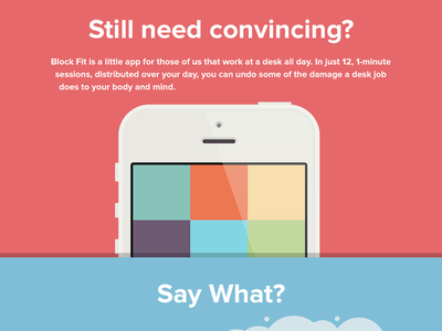 Block Fit for iPhone illustration flat startup game app iphone
