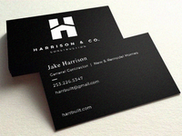 Harrison   Co. Business Card Presentation