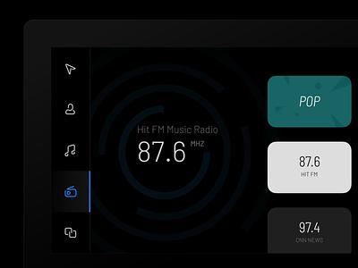 HMI Design ux carplay car hmi user visual application android interface ui design