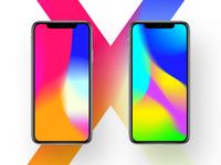 iphoneX style wallpaper