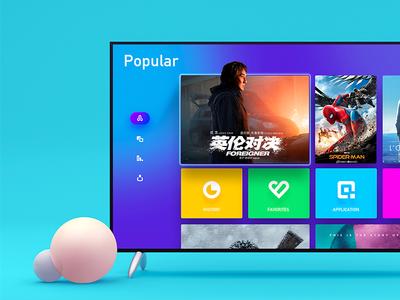 Ctv design visual luncher tvos system interface ue ux ui tv