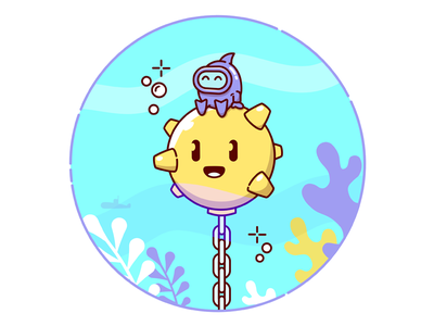 Underwater Adventure gamedev vector indiedev ios character game illustration