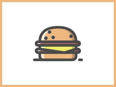 Burger cheese burger grafiesto food lover foodie illustration iconography icon icons delicious junk food burger food