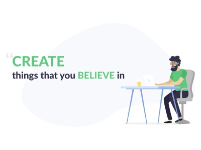 Why freelance when you already have a job? graphic blog graphic design believe create ux uiux freelancers vector illustration blog illustration ui freelance design 1thing taran job freelancer
