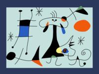 Figure, Dog, Birds x 2.5px