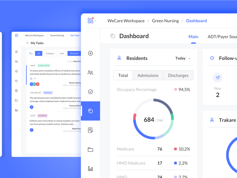 SAAS for Health Accounting medicare medicaid insurance accounting health tasks productivity ux ui dashboard