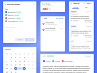 SAAS for Health Accounting - Microinterations ui chat microinteraction animation invite productivity medicare medicaid insurance health dashboard accounting