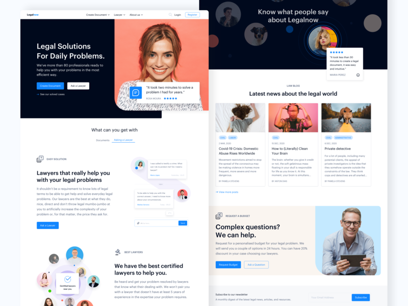Legal Platform - Homepage: Find a Lawyer homepage everyday problems people web ux ui marketplace platform legal lawyers law
