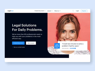 Legal Platform - Homepage: Find a Lawyer: The Animated Version homepage everyday problems people web uiux ui marketplace platform legal lawyers law motion motion design