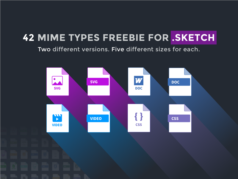 MIME Types Freebie for Sketch App sketch app icon set download free design digital file types mime types freebie pack set icons