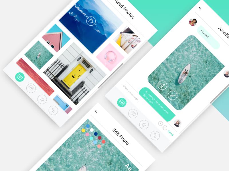 Mobile Messaging App by Hapibot Studio on Dribbble