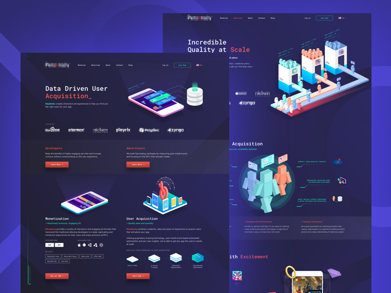 Mobile and In-Game Advertising Website by Hapibot Studio on