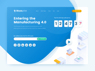 ICO Landing Page - Countdown