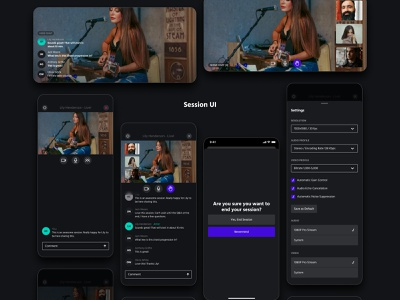 2GTHR - iOS App Design - Live streaming Video Conference UI/UX onstage live chat live streaming session ui video app app design video conferencing app ux ui