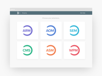 Systems Hub - suite of web apps - splash screen