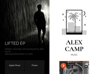 Alex Camp Music - website for my music