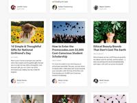 Blog index - card ui - articles - posts