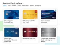 Card UI - choose credit cards