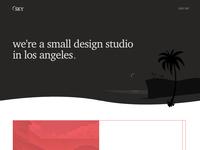 Website header - dark - design studio site