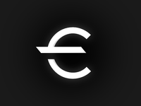 Euro symbol / brandmark, logo, coin, European money