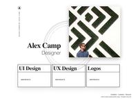 Digital Portfolio - Index page layout